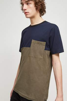French Connenction Half Stripe Crew Neck T-Shirt
