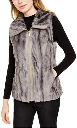 Calvin Klein Marled Faux-Fur Vest