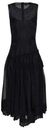 Simone Rocha Lace-Trimmed Ruffled Organza Midi Dress