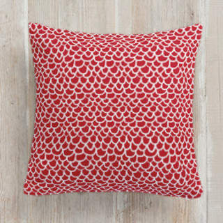Hand Drawn Scallop Self-Launch Square Pillows