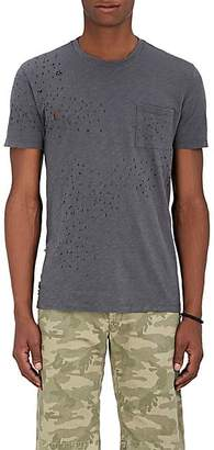 Barneys New York Men's Distressed Cotton T-Shirt - Dark Gray