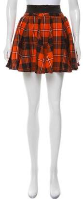 Dolce & Gabbana Plaid A-Line Skirt