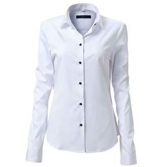 13b0c5f79e Fly London HAWK Womens Dress Shirts Bamboo Long Sleeve Button Down Shirt  Work Blouse