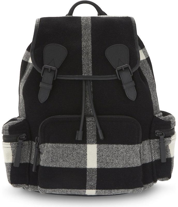 Burberry Check pattern rucksack