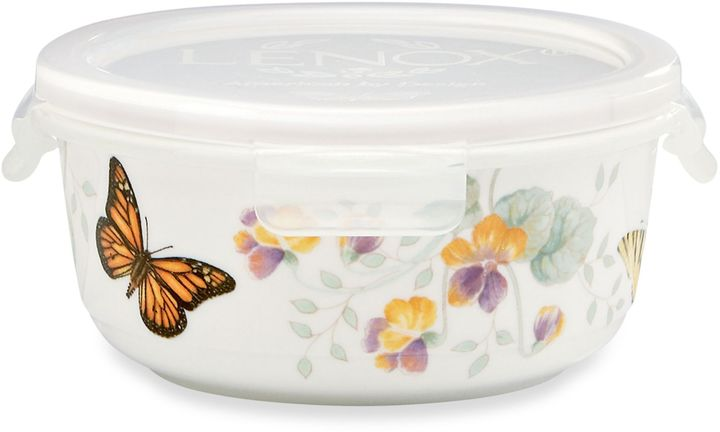 Lenox Butterfly Meadow® 5.75-InchRound Serve & Store Bowl with Lid