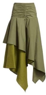 Loewe Women's Asymmetric Skirt - Khaki Green - Size 34 (2)