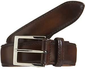 Harris Men's Burnished Leather Belt-Med. brown