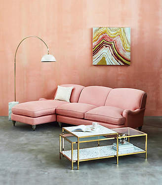 Anthropologie Glenlee Two-Piece Chaise Sectional