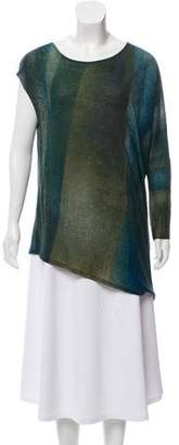 Helmut Lang One-Sleeve Printed Top