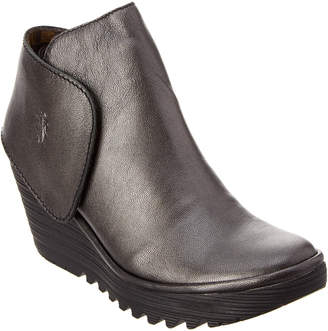 Fly London Yogi Leather Wedge Bootie
