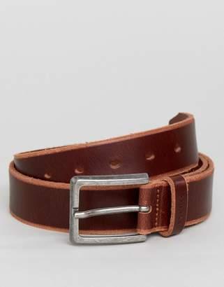 Esprit Leather Belt In Brown