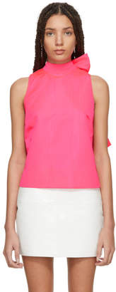 MSGM Pink Bow Tank Top