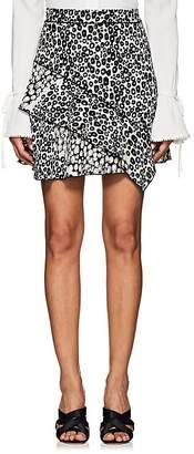 Derek Lam 10 Crosby Women's Ruffle Leopard-Print Crepe Miniskirt