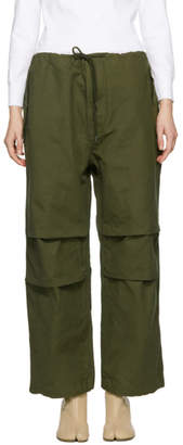 Chimala Green Drawstring Cover Trousers