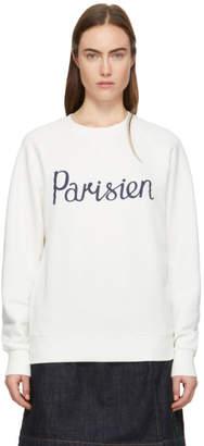 MAISON KITSUNÉ Off-White Parisien Sweatshirt