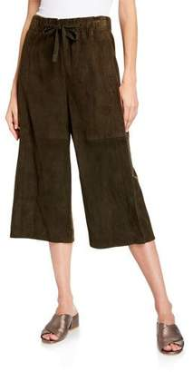 Vince Cropped Lambskin Suede Culottes