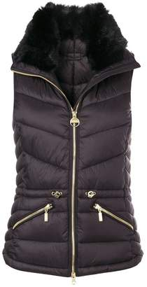Barbour furry collar padded gilet