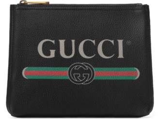 Gucci Print leather small portfolio