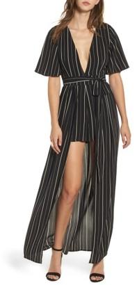 Women's Socialite Stripe Maxi Romper $75 thestylecure.com