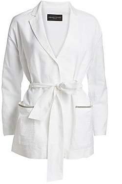 Fabiana Filippi Women's Seersucker Belted Long Jacket