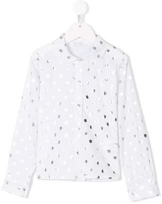 Elsy polka dot print shirt