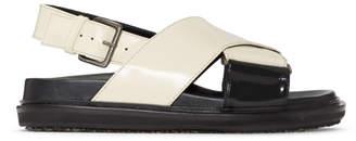 Marni White Fussbett Sandals