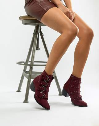 Missguided buckle western boots