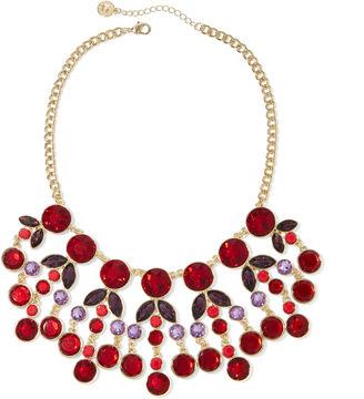 LIZ CLAIBORNE Liz Claiborne Red Gold-Tone Statement Necklace $48 thestylecure.com