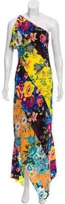 Diane von Furstenberg One-Shoulder Silk Maxi Dress