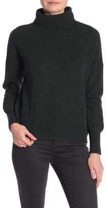 GRIFFEN CASHMERE Ribbed Funnel Neck Cashmere Pullover