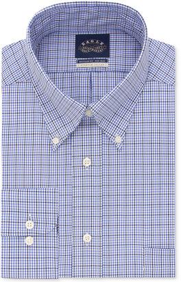 Eagle Men's Classic/Regular Fit Non-Iron Flex Collar Blue Check Dress Shirt $69.50 thestylecure.com