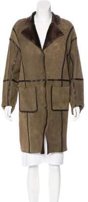 Nina Ricci Shearling Knee-Length Coat w/ Tags