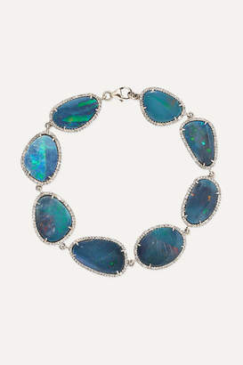 Amrapali 18-karat White Gold, Opal And Diamond Bracelet - one size