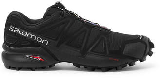 Salomon Speedcross 4 Ripstop And Rubber Trail Running Sneakers - Black