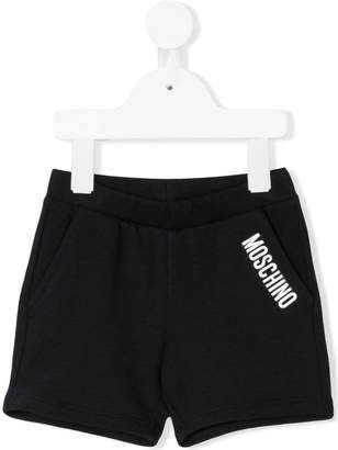 Moschino Kids logo print casual shorts