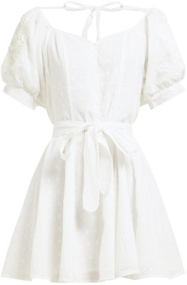 Innika Choo Madonna Phulmun Ramie Mini Dress - Womens - White