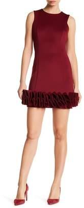 Donna Ricco Ruffle Hem Cocktail Dress