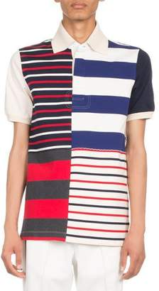 Maison Margiela Multi-Striped Polo Shirt