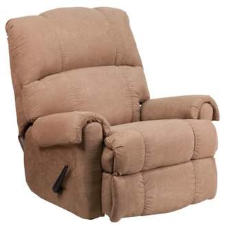 Flash Furniture Contemporary Victory Lane Taupe Fabric Rocker Recliner