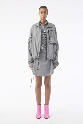 3.1 Phillip Lim Ruffled Gingham Track Jacket