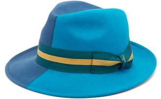 Borsalino Alessandria Two Tone Rabbit Felt Hat - Mens - Blue Multi