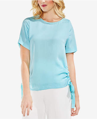 Vince Camuto Side-Tie Short-Sleeve Top