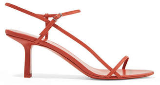 The Row Nude Leather Sandals - Brick