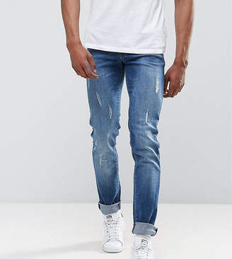 Loyalty And Faith TALL Slim Fit Jean with Abbrasions