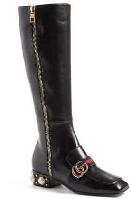 Gucci 'Peyton' Embellished Riding Boot