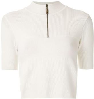 Andrea Bogosian funnel neck knit blouse