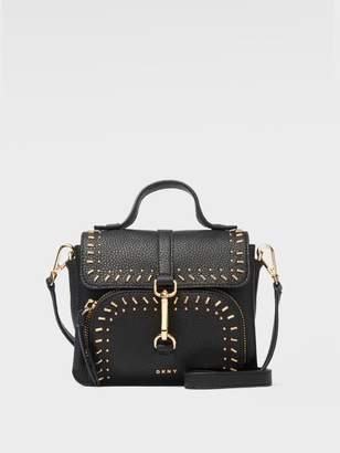 DKNY Paris Pebbled Leather Stud Crossbody