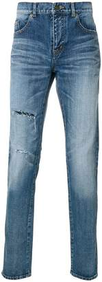 Saint Laurent light-wash slim-fit jeans