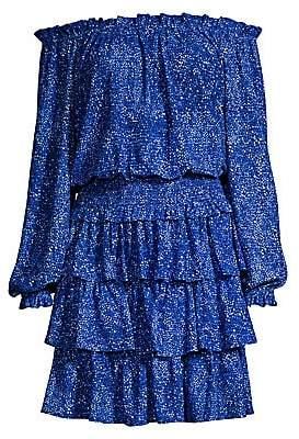 MICHAEL Michael Kors Women's Floral Off-the-Shoulder Smocked Dress