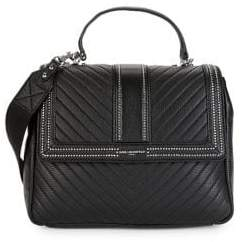 Karl Lagerfeld Paris Textured Leather Satchel